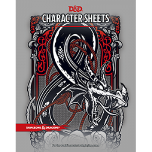 D&D RPG - Charater Sheets - EN cod 9780786966189