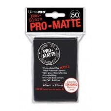 SLEEVES PRO MATTE BLACK 50 BUC
