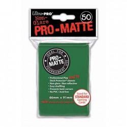 SLEEVES PRO MATTE GREEN 50 BUC