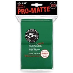 Standard Deck Protector - PRO-Matte Green (100 Sleeves)