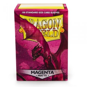 Dragon Shield Standard Sleeves - Matte Magenta