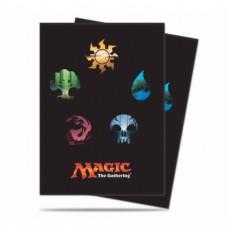 UP - Standard Deck Protector - Magic: The Gathering: Mana 5 Symbols (80 Sleeves)