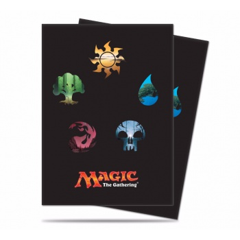 UP - Standard Deck Protector - Magic: The Gathering: Mana 5 Symbols (80 Sleeves)