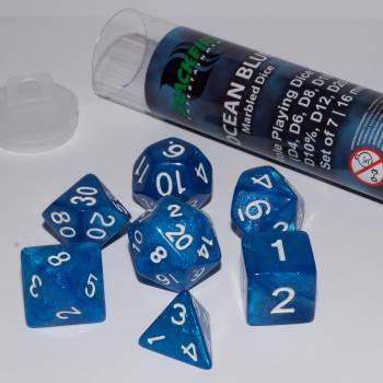 blackfire dice- 16mm Role Playing Dice Set- Ocean Blue(7Dice)