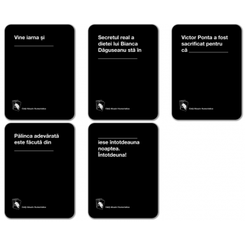 CARDS AGAINST HUMANITY RO - Carti Abuziv Humoristice vol 1 - extensie cod 0646809513831