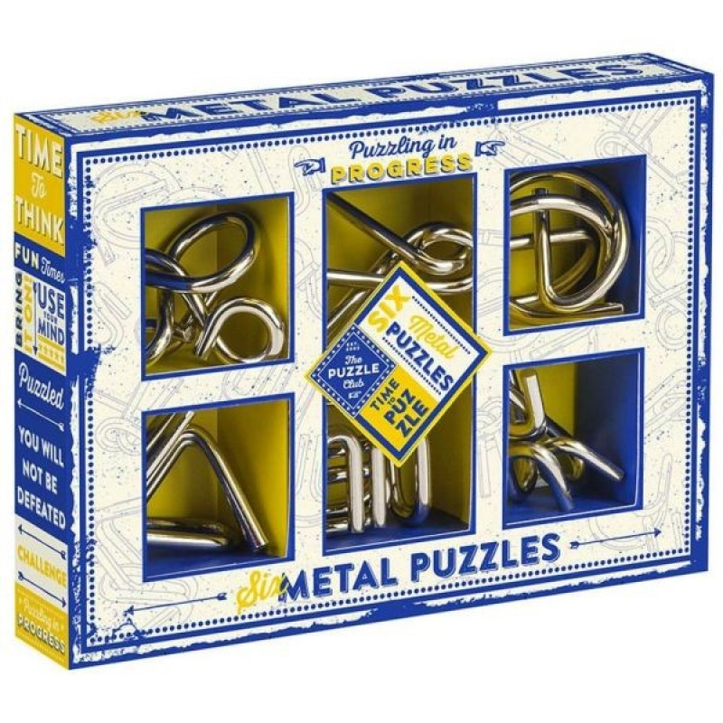 Set of Six Metal Puzzles