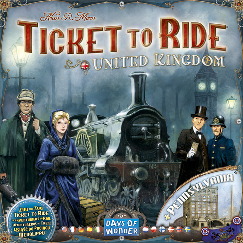 TICKET TO RIDE MAP COLLECTION 5 UK PENNSYLVANIA cod 824968817773