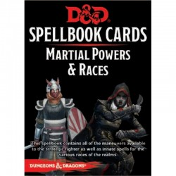 D&D Spellbook Cards - Martial Powers & Races 61 Cards
