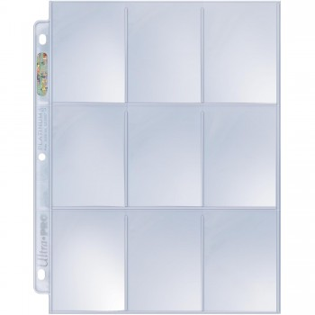 UP - Secure Platinum - 9-Pocket Pages (3 Hole)
