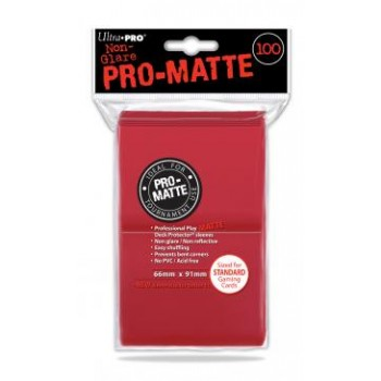 ULTRA PRO SLEEVES PRO MATTE RED
