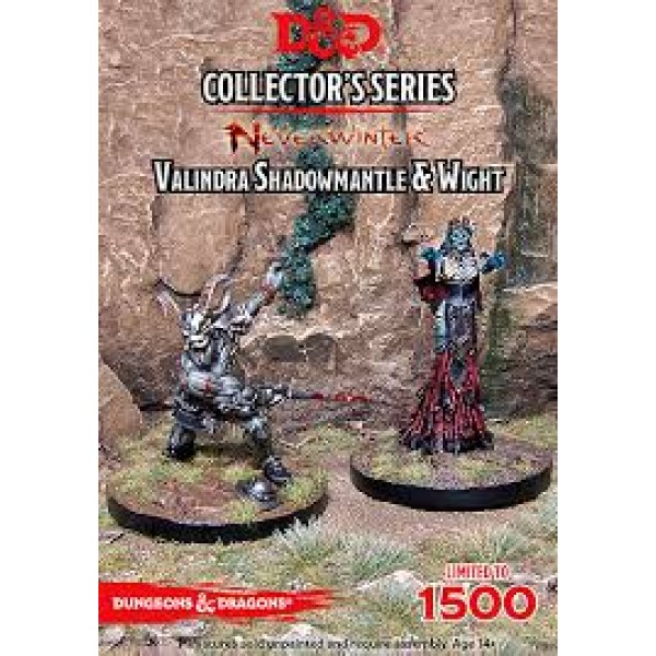 D&D Collectors Valindra Shadowmantle&Wight cod 9420020229396