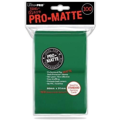 Standard Deck Protector - PRO-Matte Green (100 Sleeves)